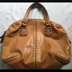 Michael Kors Studded Brown Leather Purse